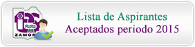 Lista de Aspirantes Aceptados periodo 2015