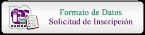 Formato de Datos Solicitud de Inscripción