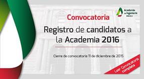 Registro de Candidatos a la Academia 2015