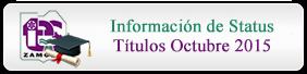 Información Status Títulos Octubre 2015