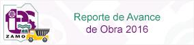 Reporte de Avance de Obra 2016