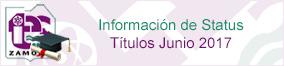 Información de Status Títulos Junio 2017